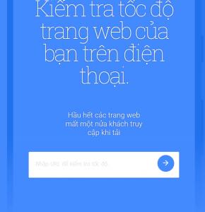 kiểm tra độ thân thiện google